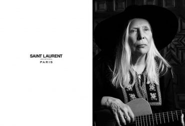 """Joni Mitchell and """"Music Project"""" Yves Saint Laurent"""
