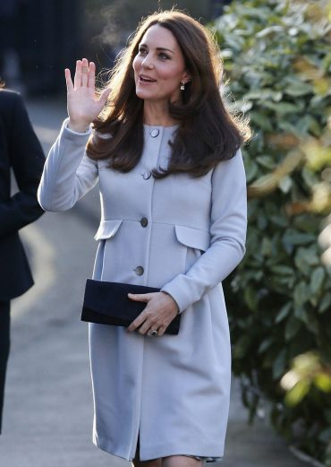 Beautiful Catherine, Duchess of Cambridge in light blue coat