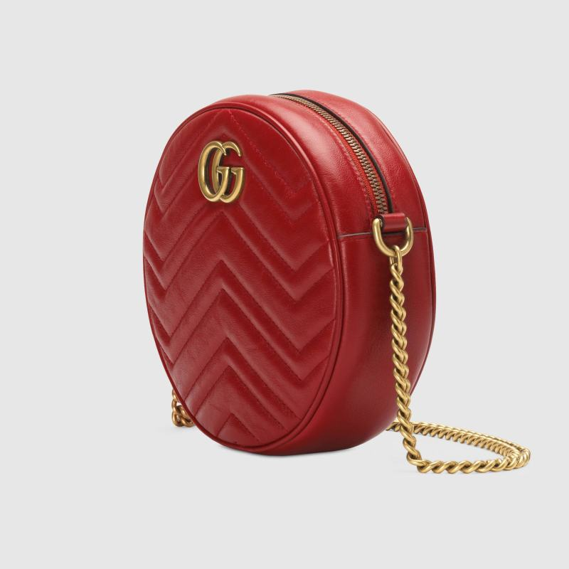 a12bb036d5a10f Defined by the distinctive antique Double G gold-toned hardware, made in  matelassé chevron leather with a heart on the back, microfiber lining with  a ...