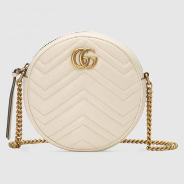 From Gucci Cruise 2019 – GG Marmont mini round shoulder bag